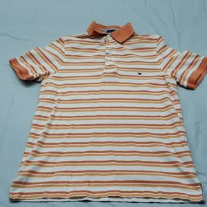 Tommy Hilfiger Custom Fit Striped S/S Polo Shirt